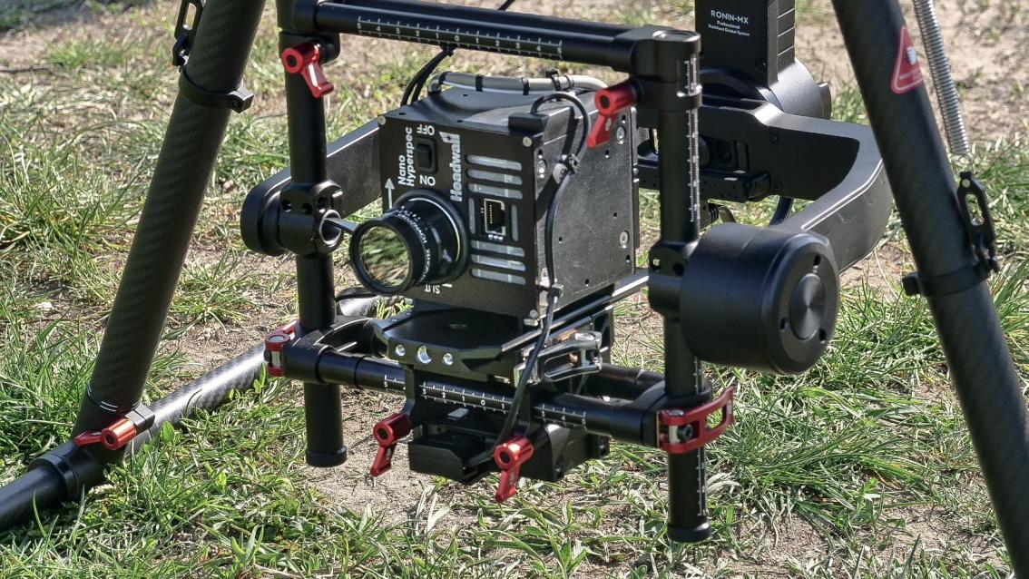 Testujeme výstupy a létání s hyperspektrální kamerou
