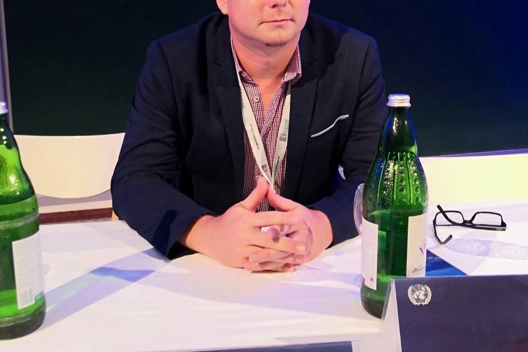 Jakub byl na pozvání na Symposiu OSN ve Štýrském Hradci k tématu Space s přednáškou