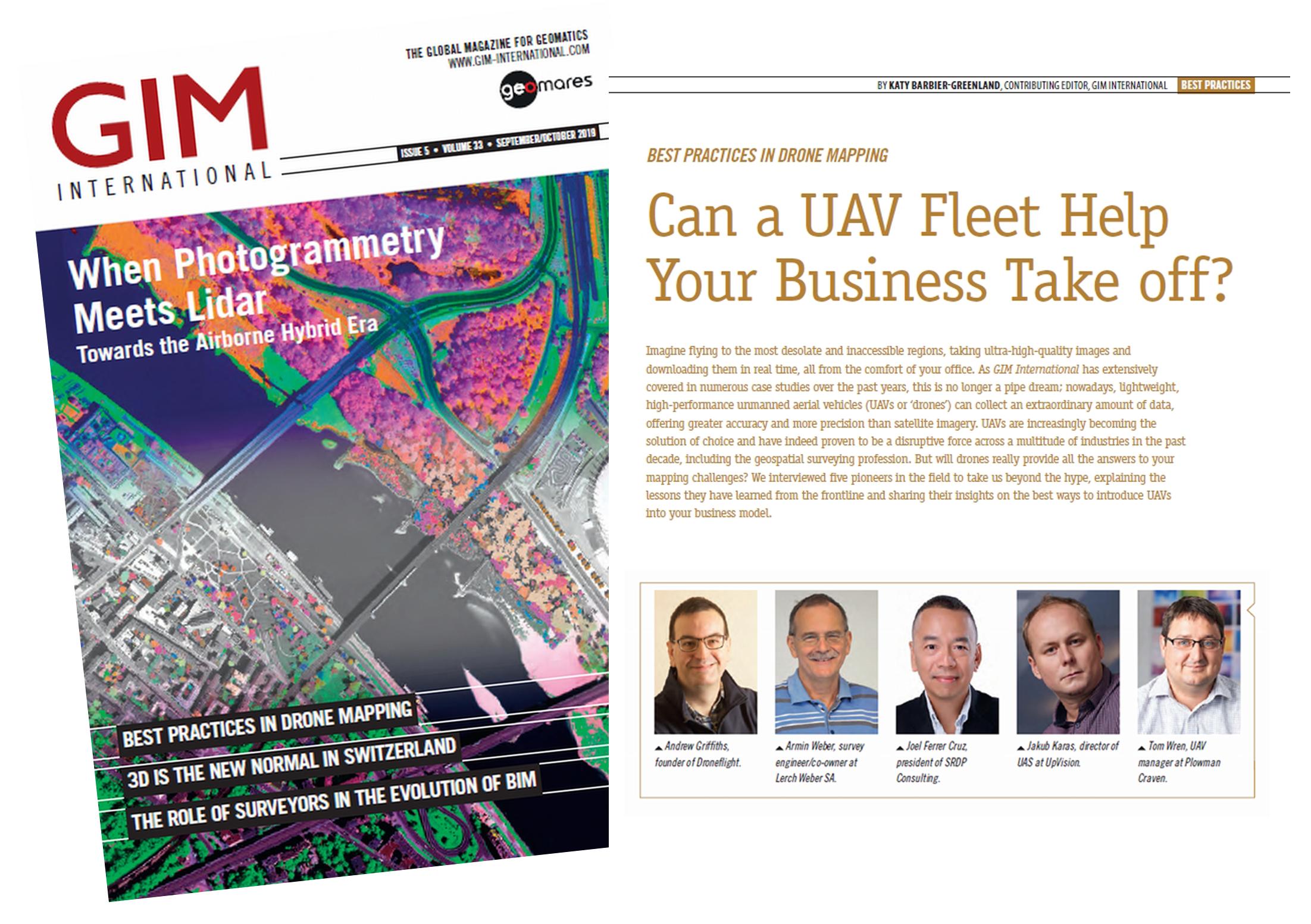 Jakub mezi 5-ti světovými pionýry z oblasti mapování s drony v rozhovoru v časopisu GIM International