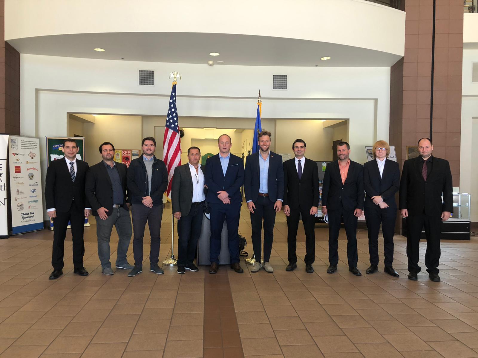 Naše česká delegace v Las Vegas měla jednání v Nevada Institute for Autonomous Systems a u guvernéra Nevady