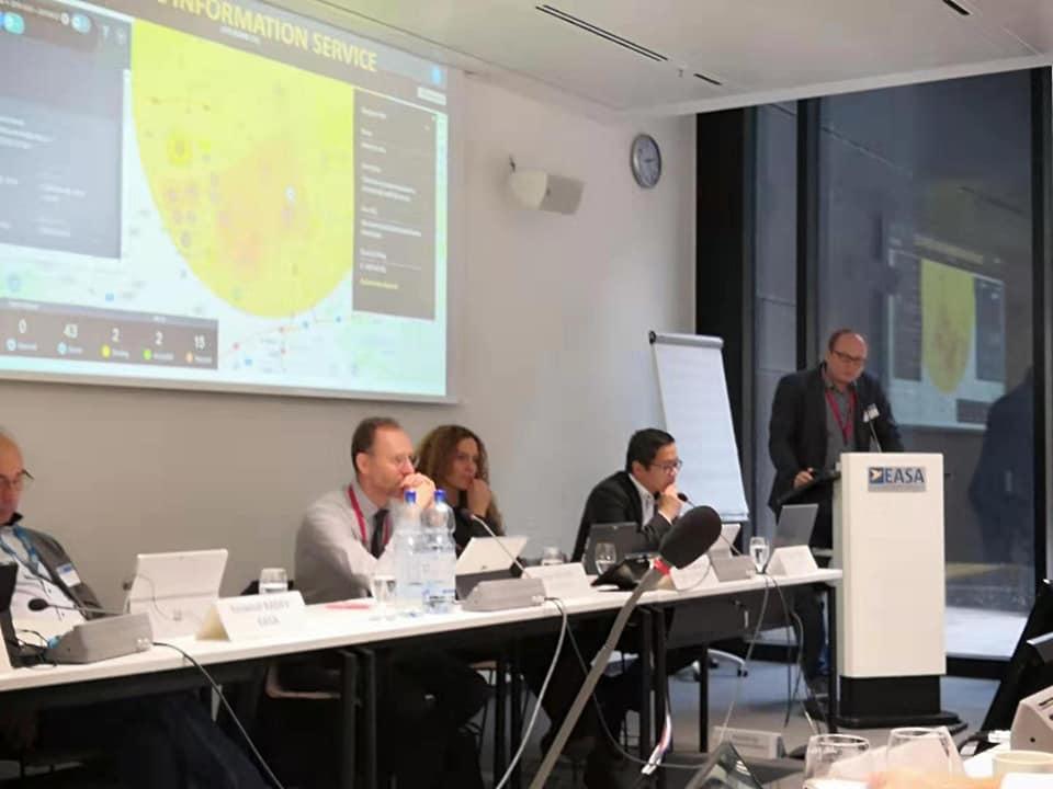 Jakub měl na pozvání EASA v Kolíně nad Rýnem přednášku k U-Space