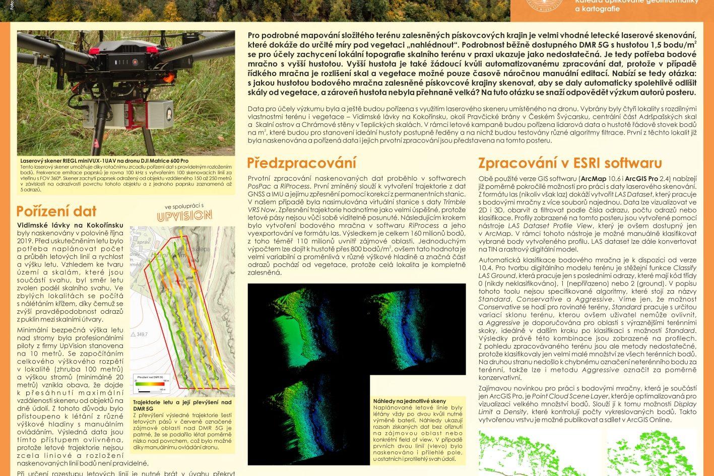 Na české ESRI konferenci vyhrál z 35ti přihlášených posterů poster Univerzity Karlovy ze skenování skal které provádíme