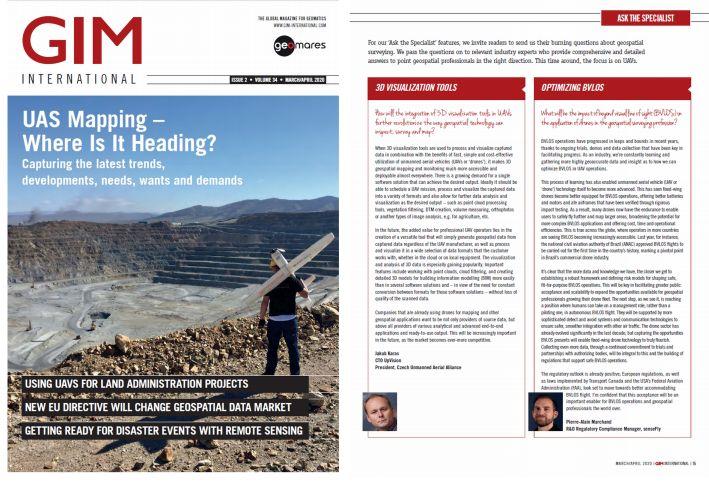 V holandském časopisu GIM International Jakub už počtvrté na obálce