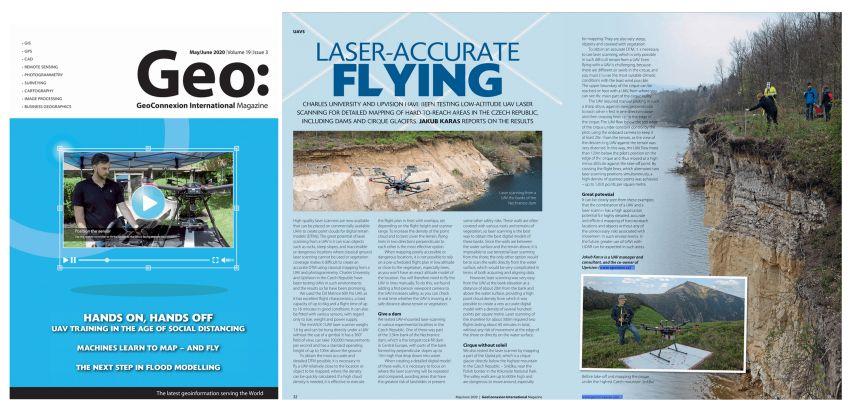 V britském časopise Geoconnexion vyšel Jakubův článek o využití LiDARu z dronů