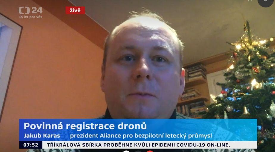 Jakub byl hostem Studia 6 na České televizi a komentoval nová pravidla pro drony