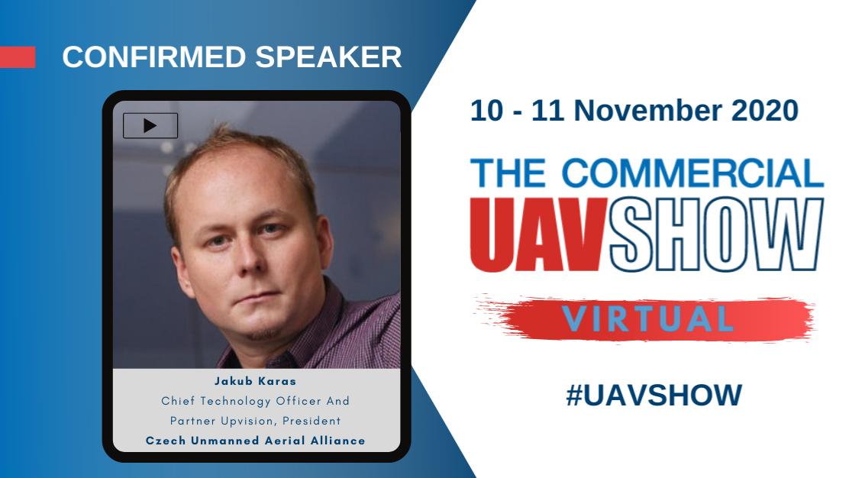 Jakub byl mezi keynote speakery na Commercial UAV Show 2020