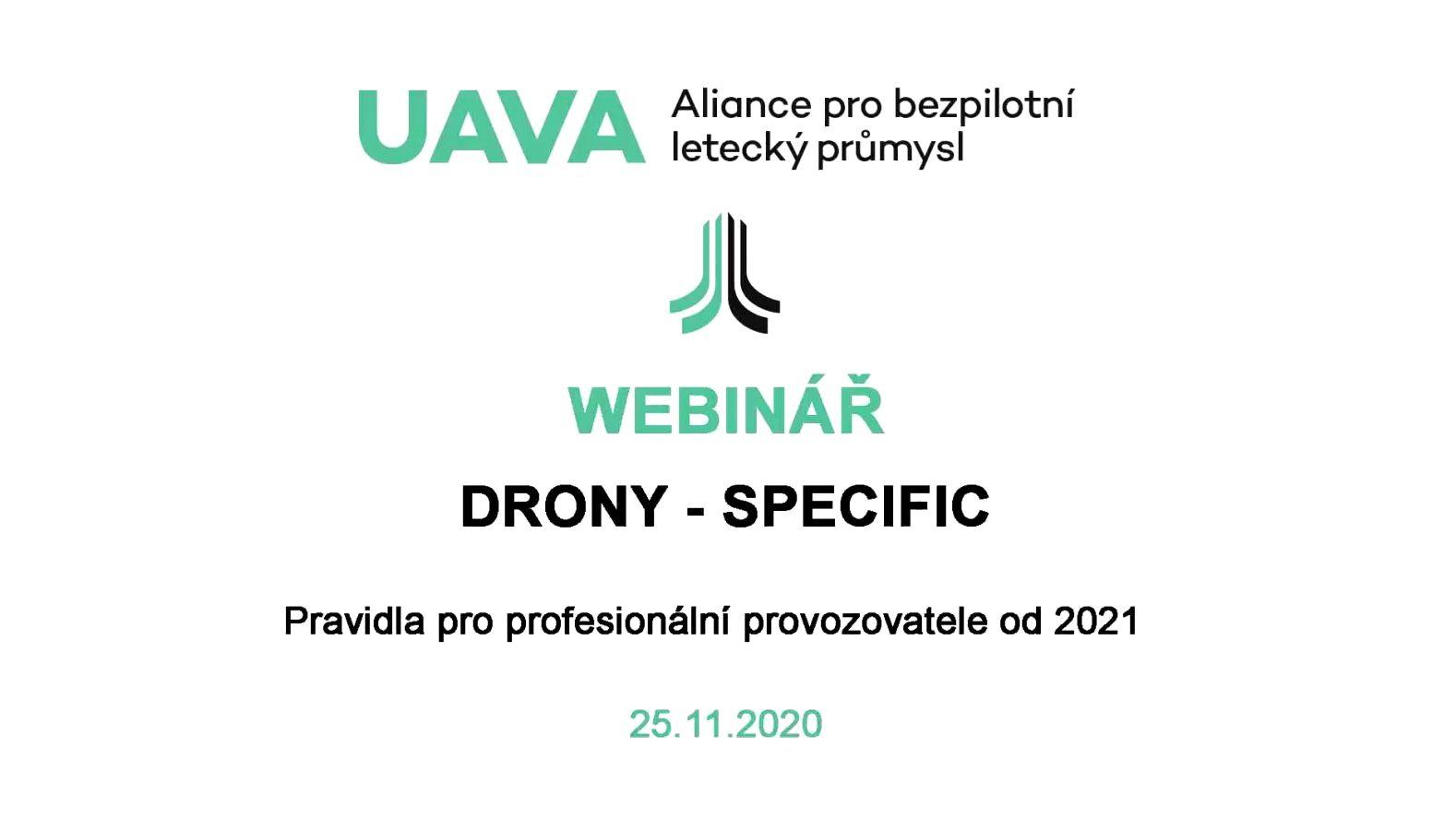 Aliance UAVA pořádala webinář ke komerčnímu provozu dronů od 31.12.2020